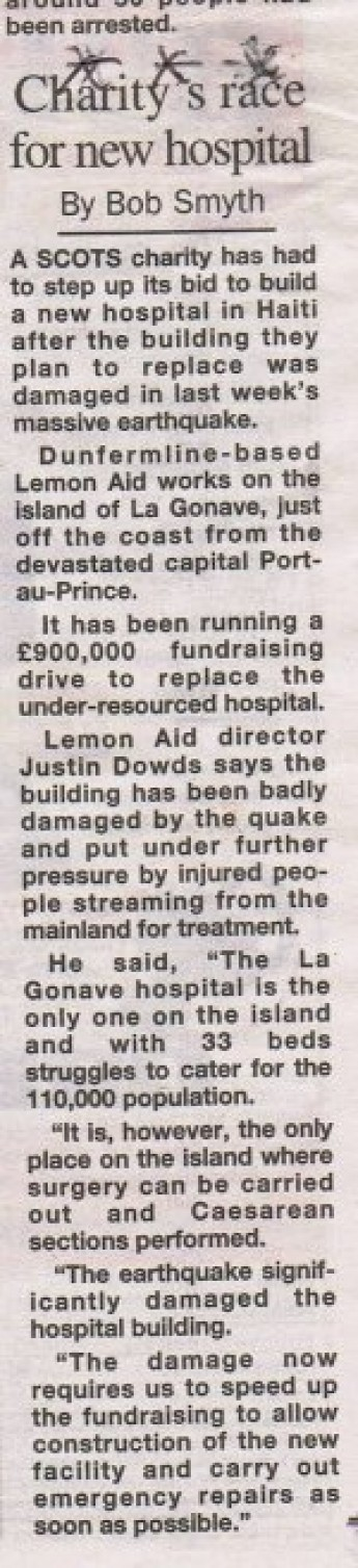 Article in Sunday Post 17th January 2010